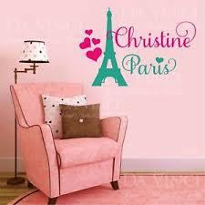 Paris Eiffel Tower Love Girl Custom Name Wall Personalized Vinyl Sticker Decal B Ebay