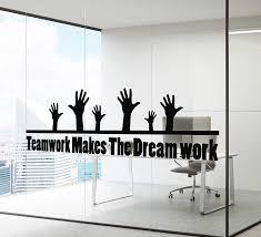 Amazon Com Wall Decal Office Teamwork Team Motivational Inspirational Quote Vinyl Decor Z4917 Home Kitchen