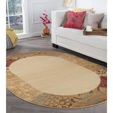 tayse rugs elegance beige 5 ft x 7 ft