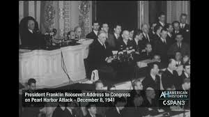 president roosevelt s day of infamy address to congress c span org