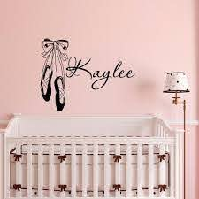 Personalized Wall Decal Girls Name Wall Decal Stickers Dance Etsy
