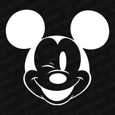 Mickey Mouse Head Winking Vinyl Decal The Stickermart