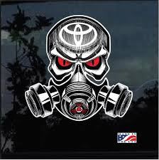 Toyota Skull Gas Mask Full Color Decal Sticker Custom Sticker Shop