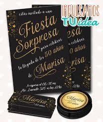 Cumple 50 Fiesta Sorpresa Tarjeta Y Tarjetitas Para Imprimir