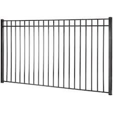 Kent 5 Ft H X 8 Ft W Black Steel Square Top Decorative Fence Panel In The Metal Fence Panels Department At Lowes Com