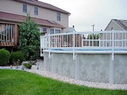 2020 24 And 36 White Pvc Above Ground Pool Fencing Swimming Pool Discounters