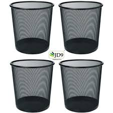 Jd9 Metal Mesh Medium Size Dustbin For Office Use Small Rooms School Bedroom Kids Room Home Multi Purpose Black Metal Mesh Set Of 4 Amazon In Home Kitchen