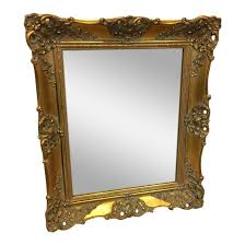 french gilded gold framed mirror