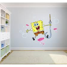Spongebob Squarepants Happy Singing Jellyfish Wall Graphic Decal Sticker Sticker Mural Baby Kids Room Bedroom Nursery Kindergarten House Home Design Wall Art Decor Removable Peel And Stick 20x12 Inch Walmart Com
