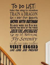 Geek To Do List Wall Decal Customizable Fantasy Geekery Etsy Geek Decor Fairytale Nursery Geek Stuff