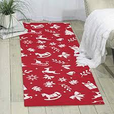 Amazon Com Red Deer Tree Carpet 70 X 24 Runner Rug Kids Rugs Area Rug Shag Rug Home Kitchen