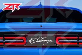 2015 2020 Dodge Challenger Script Logo Taillight Divider Decal Ztr Graphicz