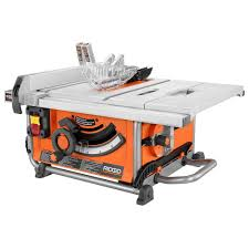 Ridgid 15 Amp 10 Inch Compact Portable Table Saw The Home Depot Canada