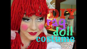 diy rag doll costume wig and makeup