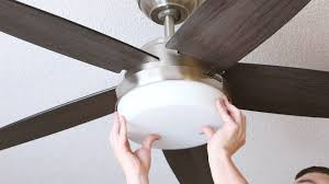 installing a ceiling fan where a light