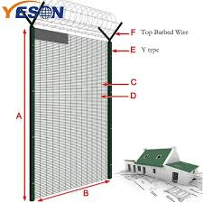 China 2019 China New Design 358 Anti Climb Fence 358 Fence Top Barbed Wire Yeson Factory And Manufacturers Yeson