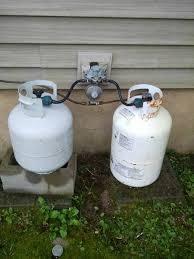 connect propane tank to gas range