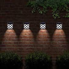 The Light Will Turn On Automatically At Dusk And Off Dawn 6 Led Solar Fence Light Each Solar Light Prov Solar Fence Lights Fence Lighting Solar Lights Garden