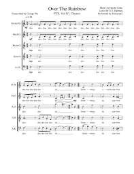 Over The Rainbow - Pentatonix (Full Sheet Music w/ Lyrics) Sheet ...