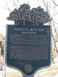Rosetta McClain Gardens Historical Plaque