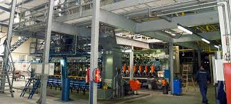 six european glass production sites and