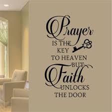 Christian Wall Decal Prayer Key Faith Unlocks Religious
