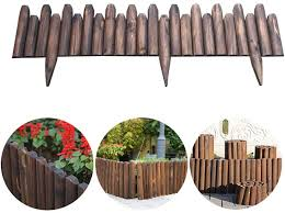 Amazon Com Cjswt Wooden Picket Fencing Instant Fence Panels Picket Border Edge Fence Expanding Freestanding Fence For Lawn Patio Festoon Garden Residential Yard Park 120 50cm Home Kitchen