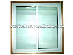 windows with blinds in the glass