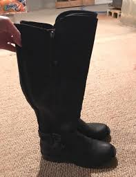 guess tall black leather boots curtsy