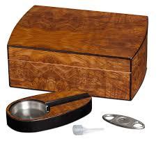 visol exec matte walnut cigar humidor