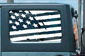 Product Jku Side Window Distressed Usa Flag Vinyl Sticker Decal Jeep Wrangler