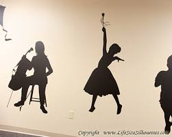 Dancing Girl Wall Silhouette Decal Children S Decor Dancing Princess Wall Silhouette Vinyl Decal