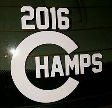 Chicago Cubs 2016 World Series Champs Vinyl Car Window Decal Sticker 5 5 Ebay
