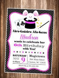 Magic Show Invitation Girls Magic Show Birthday Invitation Magic