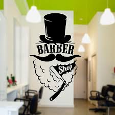 Gentlemen Barber Vinyl Wall Art Decal
