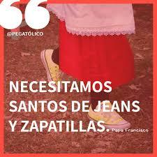 Resultado de imagen de santos con jeans yn con zapatillas..