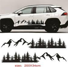 118 13 Black Vinyl Decal Truck Rv Side Body Forest Mountain Decor Sticker Ebay