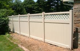 Lattice Top Solid Privacy Fence Contractor Mt Hope Fence