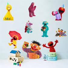 Sesame Street Cartoon Kids Children Wall Stickers Vinyl Decal Nursery Decor Gift 031 Wall Stickers Aliexpress
