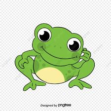 الضفدع الأخضر الصغير مضحك كرتون لطيف الكرتون الكرتون Png وملف