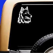 Husky Mix Samoyed Siberian Dog Vinyl Car Decal Rv Sticker Original Design Ebay
