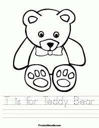 Teddy Bear Worksheet - Coloring Home