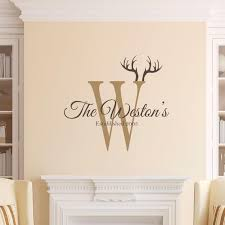 Personalized Family Name Wall Decal Custom Family Name Vinyl Etsy