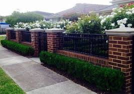 31 The Top Front Fence Ideas For Your Home Brick Fence Fence Design Privacy Fence Designs