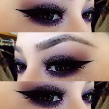 gothic eye makeup cat eye makeup