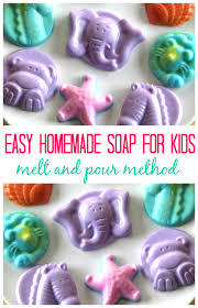 how to make glycerin soap with kids