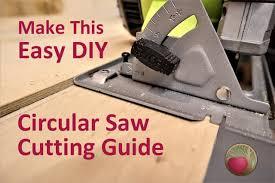 Easy Diy Circular Saw Straight Edge Guide Heartwood Art