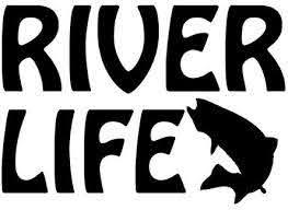 Amazon Com River Life Vinyl Car Decal Black 5 By 5 Inches Automotive