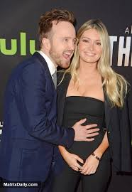 Aaron Paul and his wife Lauren Parsekian pack on the PDA at The Path  premiere in LA   Matrix Daily