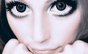 how to make eyes look freakishly huge w